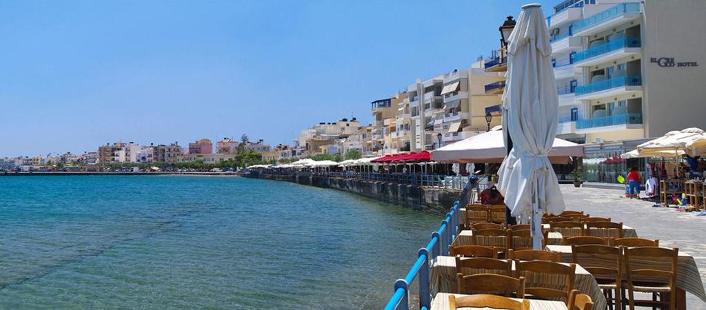 Coastal pedestrian street of Ierapetra